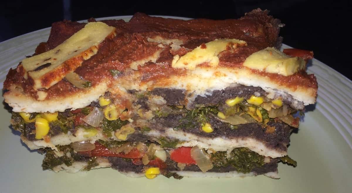 Photo of vegan enchilada casserole