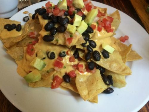 Vegan nachos at Forever Vegano