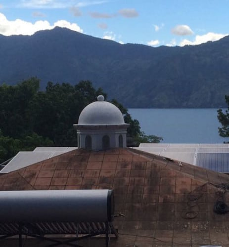 solar water heater facing the wrong direction