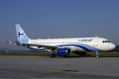 Interjet airplane