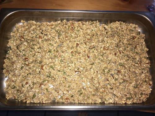 Granola ready to bake