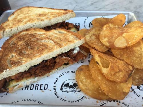 Kindred BBQ Jackfruit Sandwich