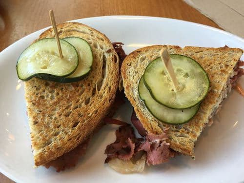 Vegan Reuben sandwich at Native Foods