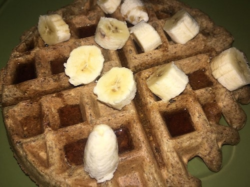 vegan whole grain waffles