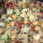 quinoa garbanzo salad