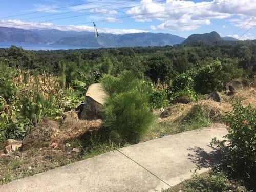 The view from Chuk Muk toward Panajachel and Cerro de Oro