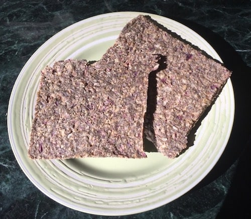 Raw Onion Bread (vegan and gluten-free)