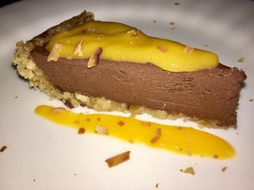 Tropical chocolate cream pie (vegan)