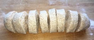 Dough log cut for pita