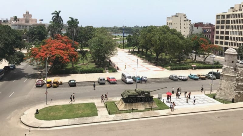 View from the balcony of the Museo de la Revolución in Havana Vieja.