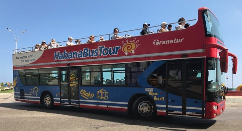 "Transtur ""Hop On Hop Off"" tourist bus in Havana"