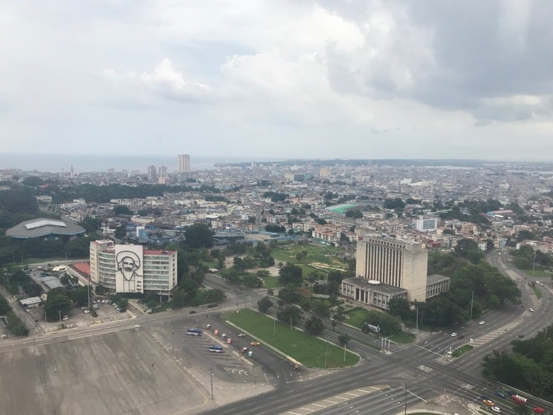 View from the top of the José Martí memorial