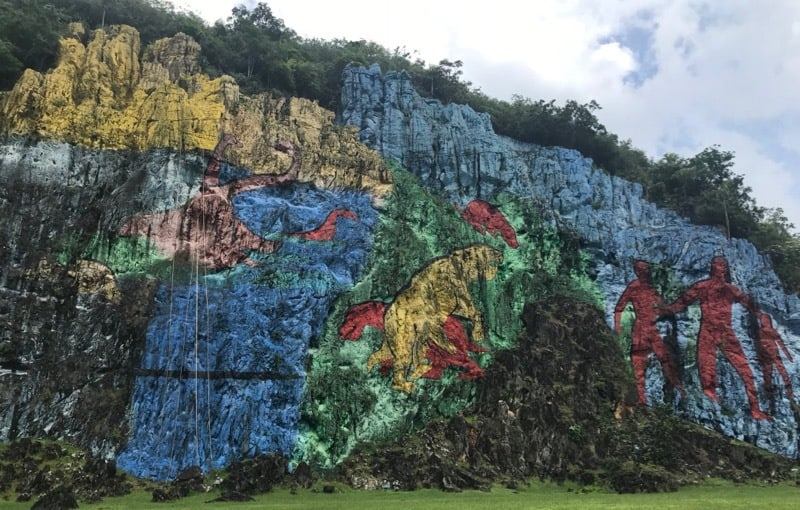 Mural de la Prehistoria in the Viñales Valley