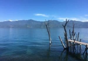 A perfect morning for a swim in Lake Atitlan