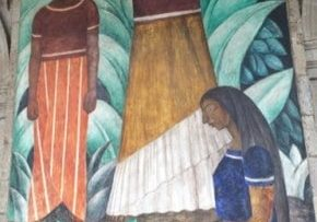 Diego Rivera mural in Mexico City