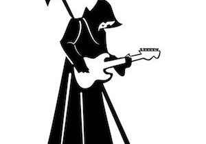grim reaper with guitar