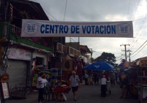 voting day in Panajachel
