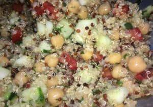 quinoa garbanzo salad